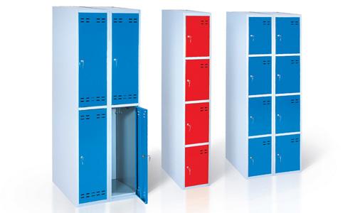 Шкафчики с ячейками металлические, складные