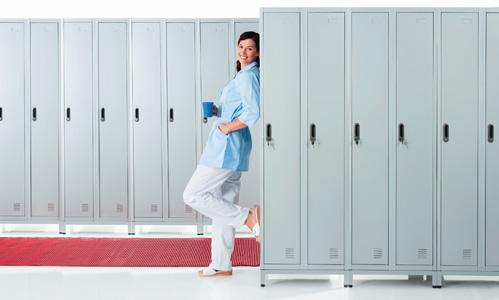 Гардеробные шкафчики металлические, складные