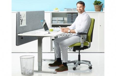 Elektriliselt reguleeritav töölaud Classic Flex, 1800 x 800 mm, hall raam