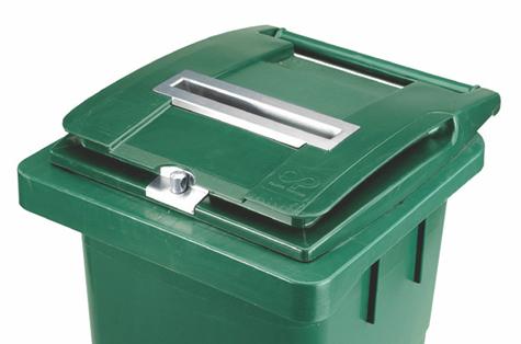 Slēdzama atkritumu tvertne arhīva dokumentiem, 140 l