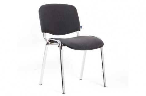 Konferenču krēsls ISO, pelēks/hromēts karkass