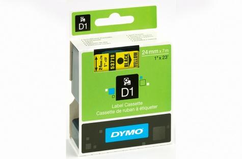 DYMO 53718, 24mm, kollane/must