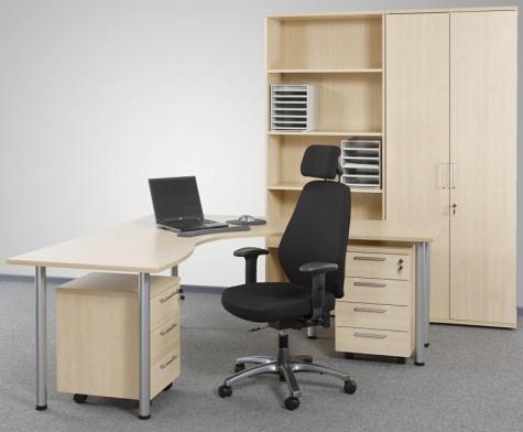 Classic sērijas biroja galds, kļavas melamīns