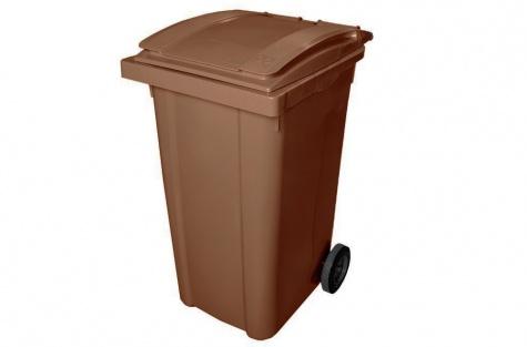 Ekoloģisko atkritumu tvertne, brūna, 240 l
