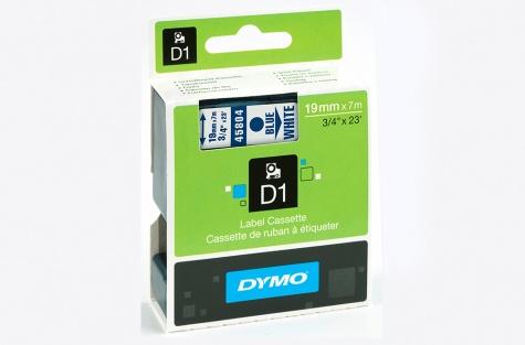 DYMO 45804, 19mm, valge/sinine