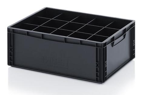Sadalītāji ESD glabāšanas kastei, 6x1, 200 mm