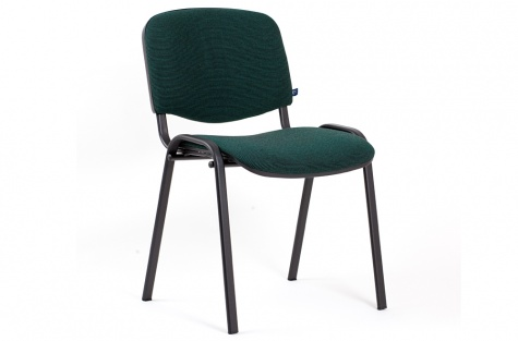 Konferenču krēsls ISO, tumši zaļš/melns karkass