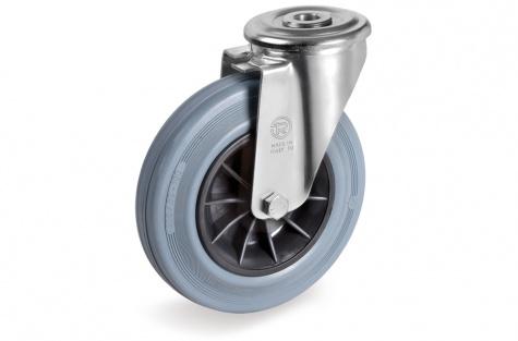 S22 Grozāms ritenis ar skrūves stiprinājumu, Ø 125 x 37,5 mm
