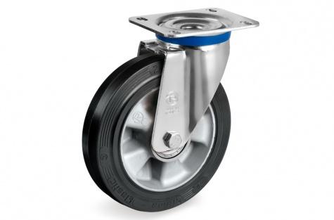 S72 Plaatkinnitusega pöörduv ratas, Ø 200 x 50 mm