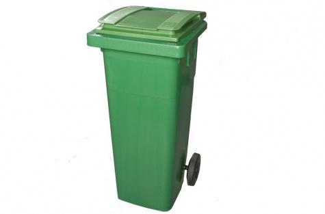 Ekoloģisko atkritumu tvertne, zaļa, 140 l