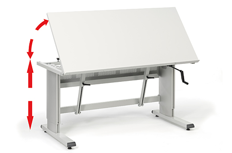 Darba galds ar paceļamu virsmu WB 811 TILT