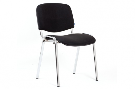 Konferenču krēsls ISO, melns/hromēts karkass