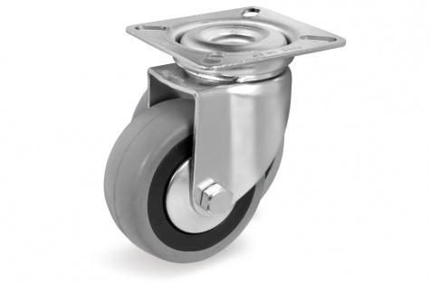 S37 Plaatkinnitusega, pöörduv ratas, Ø 100x23mm