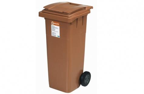 Ekoloģisko atkritumu tvertne, brūna, 140 l