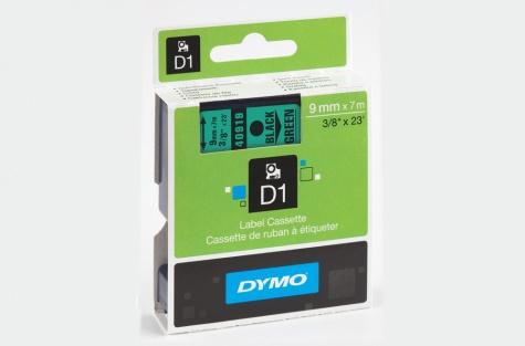DYMO 40919, 9mm, roheline/must