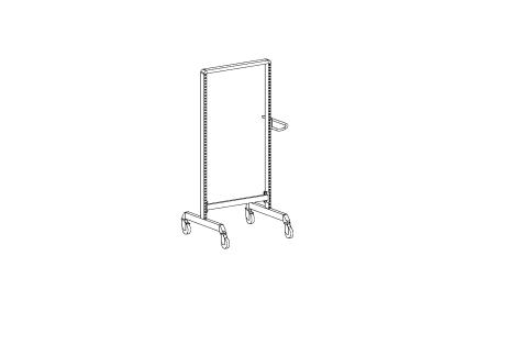 Multi trolley frame2-M500 ,light grey