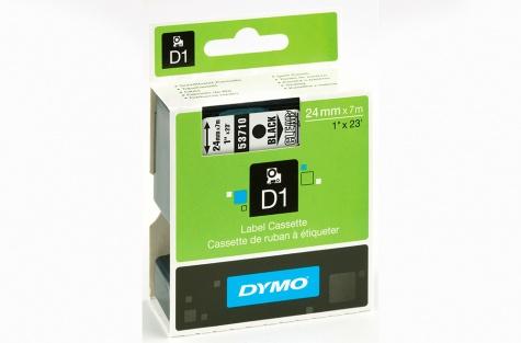 Printeru lente, DYMO 53710, 24mm, caurspīdīga/melnu tekstu