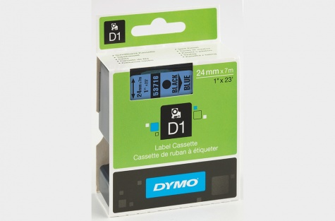 DYMO 53716, 24mm, sinine/must