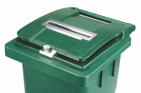 Slēdzama atkritumu tvertne arhīva dokumentiem, 240 l