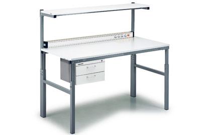 Komplekt TP-2: riiuliga töölaud, 700 x 1500 mm