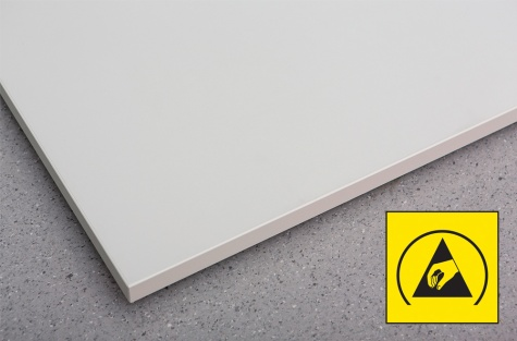 Concept lauaplaat ESD, 1500 x 750 mm