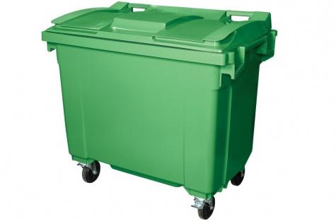 Prügikonteiner 660 l, roheline