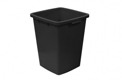 Atkritumu šķirošanas konteiners, 90l melns