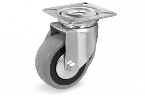 S37 Plaatkinnitusega, pöörduv ratas, Ø 50x20mm