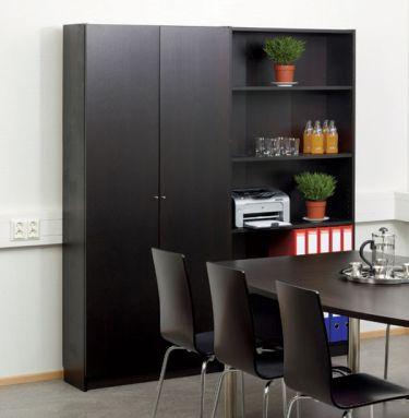 Шкаф с дверцами Budget Plus, цвет wenge (черно-коричневый)