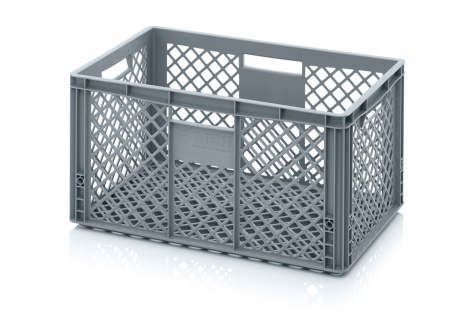 Ящик для склада со стенками в сеточку 600 х 400 х 320 мм