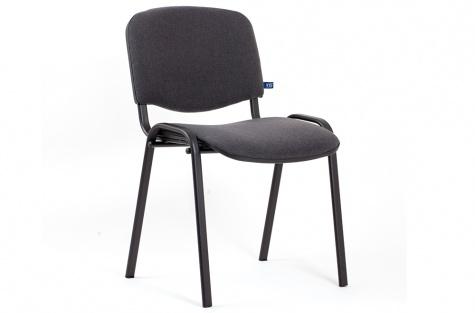Konferenču krēsls ISO, tumši pelēks/melns