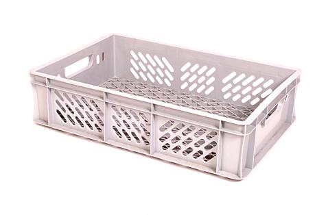 Пластмассовый ящик, 25 л, светло-серый