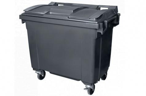 Atkritumu tvertne 660 l, tumši pelēka