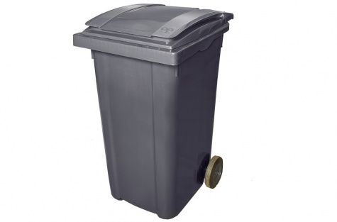 Plastmasas atkritumu tvertne, antracīta melns, 240 l