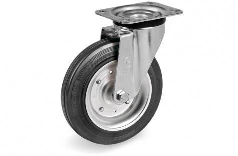 S53 Plaatkinnitusega pöörduv ratas Ø 80x25mm