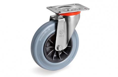 S22 Plaatkinnitusega, pöörduv ratas, Ø  80 x 25 mm