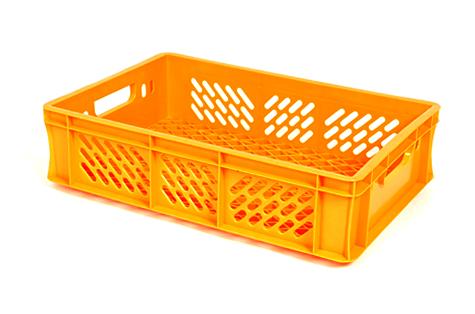 Пластмассовый ящик, 25 л, оранжевый