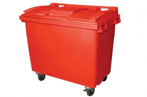 Prügikonteiner 660 l, punane