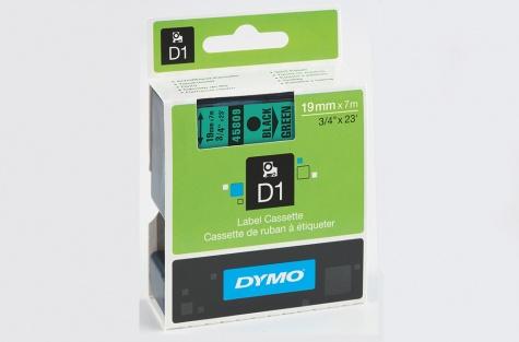 DYMO 45809, 19mm, roheline/must
