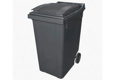 Plastmasas atkritumu tvertne, antracīta melns, 360 l