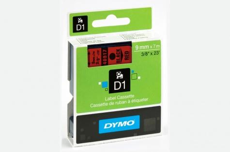 DYMO 40917, 9mm, punane/must