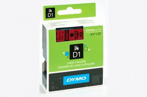 DYMO 45807, 19mm, punane/must