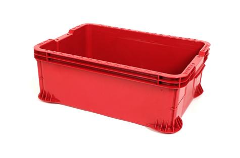 Ящик для транспортировки и хранения, 48л, красный