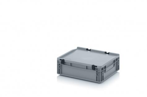EURO-kaste ar vāku, 400 x 300 x 135 mm