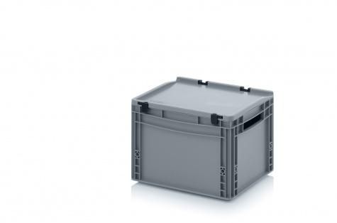 EURO-kaste ar vāku, 400 x 300 x 285 mm
