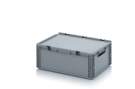 EURO-kaste ar vāku, 600 x 400 x 235 mm