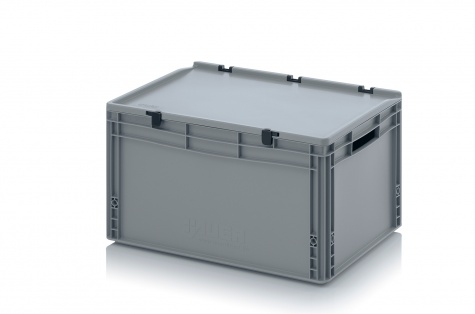 EURO-kaste ar vāku, 600 x 400 x 335 mm
