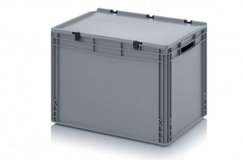 EURO-kaste ar vāku, 600 x 400 x 435 mm