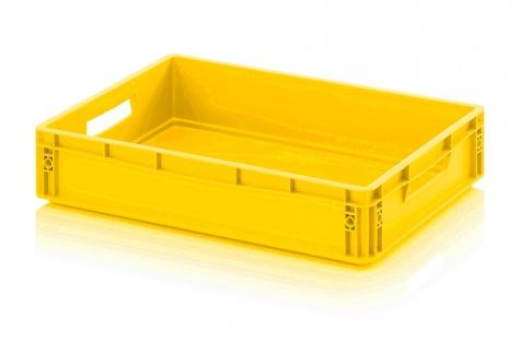 EURO-kaste noliktavai, dzeltena, 600 x 400 x 120 mm