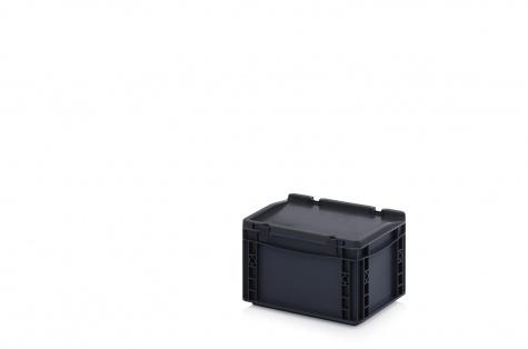 ESD uzglabāšanas kaste ar vāku, 300 x 200 x 185 mm